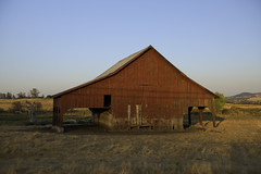 Old Red Barn (dcnelson1898) Tags: yosemitenationalpark california sierranevadamountains nationalpark nationalparkservice nps mountains mercedriver granite glacier barn red wood storage