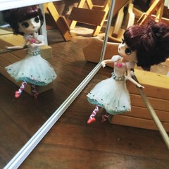 morning practice (Mina Mimosa) Tags: dal doll pullip barre pointe tutu byul fata