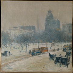 Childe Hassam--Winter in Union Square--188990 (jbuddenh) Tags: art painting childehassam 1889 unionsquare