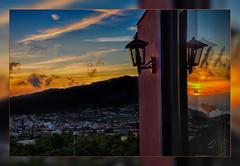 When the night comes... Sunset at Hermosilla overlooking Llanos La Palma (scorpion (13)) Tags: sunset la palma hermosilla clouds colors creative photoart nature finca autumn frame holiday