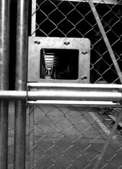 KEYHOLE (Dinasty_Oomae) Tags: minolta  minoltina  minoltinas s   tokyo   monochrome outdoor street bw blackwhite blackandwhite  akihabara  taitoku  undetpass  construction