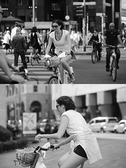 [La Mia Citt][Pedala] con il BikeMi (Urca) Tags: milano italia 2016 bicicletta pedalare ciclista ritrattostradale portrait dittico bike bicycle nikondigitale mir biancoenero blackandwhite bn bw 89838 bikemi bikesharing