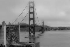 ...in B&W (MATluong) Tags: fog travel ocean architecture bridge california monochrome bay sanfrancisco goldengatebridge goldengate bayarea sonya7 sonnar5518za sel55f18z matluong