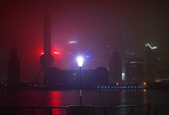 Shanghai - Fog Light (cnmark) Tags: china shanghai pudong skyling night lights fog long exposure pearl orient pearloftheorient tv tower building bright colored coloured light nacht nachtaufnahme noche nuit notte noite      allrightsreserved