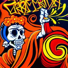 Spray Paint (Thomas Hawk) Tags: america california eastbay oakland oaklandmuseum oaklandmuseumofcalifornia usa unitedstates unitedstatesofamerica graffiti us fav10 fav25