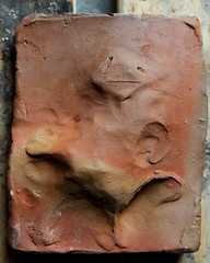 hollow and three dimensional tiles, shaped for touch (Etching Stone) Tags: man wet stone contrast painting flow fire perception shaped touch burn tiles clay mind pottery changes shards hollow roadmap physical earthenware stoneware porous threedimensional unpredictable briquette naturalcoloured clayfiring prewarart