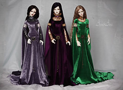 The Elven Maidens 2 (AyuAna) Tags: ball design clothing doll handmade ooak style medieval clothes fantasy bjd dollfie jointed ayuana