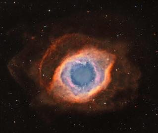 Helix Nebula in narrowband bi-colour