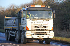 Hino 700 Mick George Tipper AE13 BNB (SR Photos Torksey) Tags: road truck george transport lorry commercial vehicle mick 700 hino haulage hgv