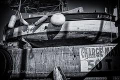 Charge max 50 T (steff808) Tags: blackandwhite bw france blancoynegro boat barca noiretblanc corse corsica fujifilm ajaccio francia biancoenero barque corcega fujinon1855