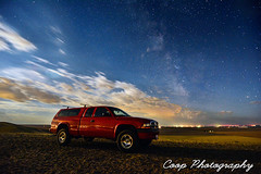 Ole Red In The Moonlight (Coop Photography) Tags: night way stars photography washington nikon hill cities headlights beam wa dodge coop tri milky dakota mcbee d7100