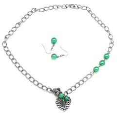 Glimpse of Malibu Green Necklace P2820A-3
