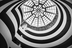 Curved Art - Explored (Sean Batten) Tags: blackandwhite bw usa newyork museum america nikon gallery unitedstates artgallery manhattan curves skylight guggenheim d800 2470