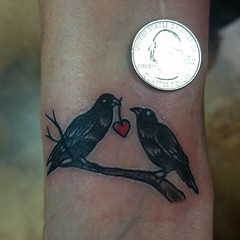 mini ravens on the wrist