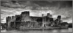 Caerphilly Castle (Evoljo) Tags: old uk castle water wales nikon caerphillycastle caerphilly