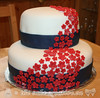 Flower Waterfall Bridal Shower Cake