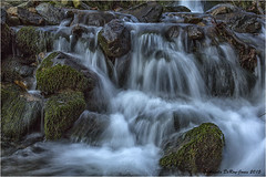 Detail of cascade in Nantlle Valley (angeladj1) Tags: waterfall snowdonia northwales nantllevalley