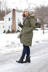 Lands End Down Coat | Winter Outfit | #LivingAfterMidnite (jackiegiardina) Tags: winter cold fashion fur outfit boots coat style down landsend puffer livingaftermidnight livingaftermidnite jackiegiardina
