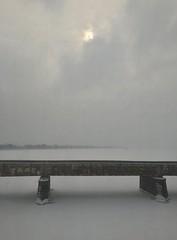 snow on the river (blakespot) Tags: trestle bridge snow ice alexandria arlington train river virginia washingtondc frozen dc metro va nofilter