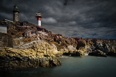 Two Lighthouses (Explored on 2015/02/27) (swPicture) Tags: longexposure sea lighthouse seascape nature water clouds cliffs shore thunderstorm lapalma d800 waterscape canarianislands