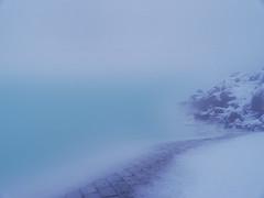 Blue Lagoon Flurry (J_blu) Tags: blue water iceland lagoon mineral algae bluelagoon bláalónið