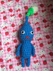 All pikmin except the rock! (Foxxi-san) Tags: blue art funny crafts crochet plush videogames amigurumi figures pikmin handmadesuccess