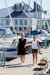 City Life (FamiljenHelsingborg) Tags: bridge sea summer sailboat marina harbor skåne sweden helsingborg dunkers kulturhus