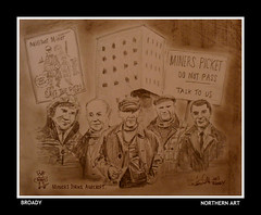 miners strike (Broady - Salford art and photography) Tags: art illustration manchester workers union pit lancashire salford militant num miners colliery agecroft broady minersstrike broadhurst
