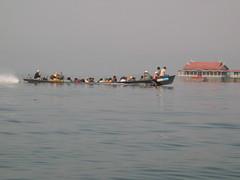 Boats on Inle Lake