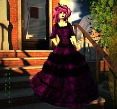 Victoria (MoekoTatekana) Tags: dark dress darkness mesh lace gothic goth victorian sl le secondlife limitededition alternative brocade steampunk moeko riggedmesh moekotatekana {moeko}