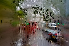 English Summertime III (Michael Lee - mplee.com) Tags: painterly abstract bus london texture wet rain composite drag photography michael movement exposure distorted photograph lee layer multiple nophotoshop raining windscreen glitch hdr icm incamera abstracted aberration haphazard mplee