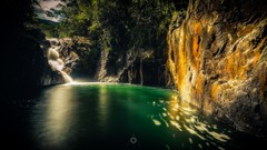 Swimming Hole (Augmented Reality Images (Getty Contributor)) Tags: australia canon ferns finchhattengorge landscape leefilters longexposure nature queensland rainforest rocks swimminghole trees water waterfalls