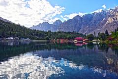 Shangrilla - Skardu (anbajwa) Tags: pakistan lake mountains reflection water colors beauty clouds photography nikon flickr awesome resort shangrilla skardu northernareaofpakistan gilgitbaltistan asimnisarbajwa anbajwa