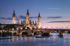 City of the Zaragoza - Aragn - Spain (www.antoniogaudenciophoto.com) Tags: saragosse espagne ville zaragoza basilique nuestraseoradelpilar notredamedupilar fleuve coucherdesoleil aragon