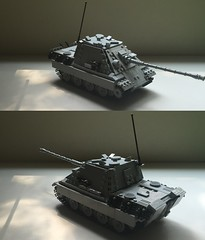 Jagdpanther Ausf G1 Update (-PanzerGrenadier1-) Tags: lego ww2 tanks afv jagdpanther sdkfz 173 panzerjaeger tank destroyer germany world war 2 ii two