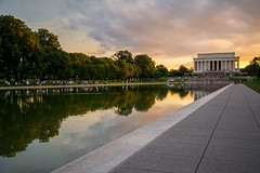 DC Reflections at Sunset (Jordan Salkin) Tags: camera trip travel pink blue trees sunset shadow portrait sky people cloud sun color reflection tree green nature water colors beautiful yellow clouds contrast reflections walking photography golden photo dc cool nice interesting districtofcolumbia memorial scenery colorful exposure pretty photographer angle walk unique capital crowd perspective scenic like blues scene photographic follow adventure explore sidewalk photograph hour greens shutter lincoln lincolnmemorial waters traveling yellows crowds likes yello goldenhour pinks coo reflectionpool followme 2016 nic3 prettyreflections