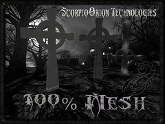 HQ Celtic Cross (Scorpio technologies, inc) Tags: cross upside down gothic cemetery graveyard mesh 100 textures lod prims halloween projects fullpermissions scorpio orion technologies