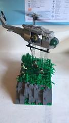 Motorized UH-1D (brick_builder7) Tags: brickbuilder7 air helicopter motorized motor jungle lz zone landing sky pilot figs nam flying fly iroquois uh1d huey moc vietnam lego