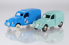 Dinky and JRD 2CV Vans (adrianz toyz) Tags: dinky toys france french jrd diecast toy model citroen 2cv fourgon van