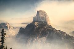 HALF DOME / STATUS POST FIRE (caffedesign) Tags: california clouds landscape unitedstates hiking smoke yosemite halfdome yosemitenationalpark glacierpoint panoramatrail landscapemountains halfdomefire