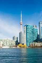 Toronto from the water (freshwater2006) Tags: canada d7100 nikon toronto ontario canad ca torontoislands city ciudad cntower latourcn skyline