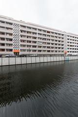 In the Mitte of Berlin: Apartmenthuser an der Friedrichsgracht (Heinz Graffunder, 1965) (jan kuenzel) Tags: berlin germany balkon ddr gdr berlinmitte wohnen spreekanal