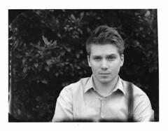 James - New55 June 2016 (Andrew Bartram (WarboysSnapper)) Tags: portrait 4x5 silvergelatin instantfilm peelapart darkroomprint devere504 mgfb ilfordphoto new55 believeinfilm intrepidcamera