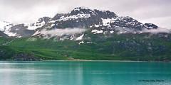 Shrouded in Mystery (Jeff M Photography) Tags: glacierbay alaska usa nationalpark np mountain fog clouds snow color water green blue shroudedinmystery jmphotography nikon nikkor scenic landscape glacier
