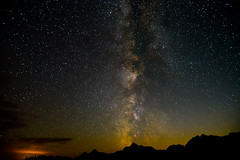 Milky Way on Mount Moran (alissa petrelli) Tags: grandtetonnationalpark grandtetons mountmoran milkyway stars astronomy perseids mountains night darksky starrynight starry moonset moonlight amkranch nps findyourpark