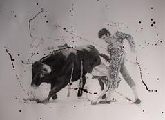 Paso Doble (www.kevinmaxwellsfineart.com) Tags: bulls bullfighting josetomas graphite chinagraph blood anegitive blackandwhite toros torosymatadores matadores drawing spanish espana pasodoble