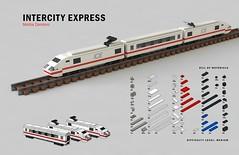 Tiny LEGO Wonders - Intercity Express (drdavewatford) Tags: legobook microscale nostarchpress