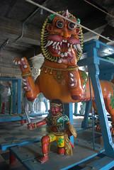 Prop near the Yali - a mythical beast (VinayakH) Tags: halasurusomeshwaratemple bangalore india ulsoor chola vijayanagaraempire kempegowda hindu shiva temple hinduism