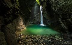Hidden Treasure (Wim Air) Tags: waterfall sony a7s slovenia wimairat rocky mountains canyon