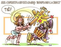 Testa & Croce (Moise-Creativo Galattico) Tags: editoriali moise moiseditoriali editorialiafumetti giornalismo attualit satira vignette isis dabiq croce